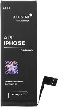 Oferta amazon: Blue Star Premium HQ - Batería de Li-Pol litio 1624 mAh de Capacidad Carga Rapida 2.0 Compatible con iPhone SE / iPhone 5SE - Larga Duración