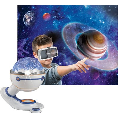 Virtual Explorer Space Expedition 4-in-1 VR, AR, hands-on play and learning system with Star Planetarium, VR Goggles and App, Augmented Reality cards and Explorer - Virtual Model