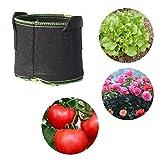 BIG-DEAL, Garden Tools,_5 pcs 40cm x 30cm or 50cm x 40cm Vegetables Flowers Potatoes Cultivation Grow Bags Home Garden Balcony Farm Agriculture Supplies - ( Color:50 x 40cm )