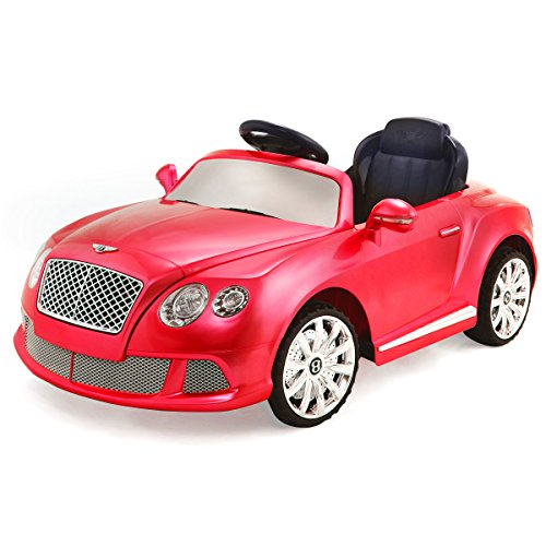 costzon bentley gtc 12v kids ride on car battery powered rc remote control toy vehicle wlights mp3 player little kid cars