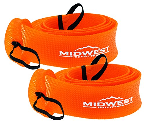 Spinning Fishing Rod Sleeve Rod Sock Cover 2 Pack By Midwest Outfitters (Orange)]()