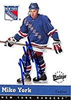 Autograph Warehouse 224087 Mike York Autographed Hockey Card - New York Rangers 2000 Upper Deck Vintage - No. 241