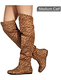 Women's Stretchy Over The Knee Slouchy Boots