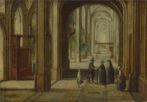 ['Hendrick Van Steenwyck The Younger The Interior Of A Gothic Church Looking East ' Oil Painting, 8 X 12 Inch / 20 X 29 Cm ,printed On High Quality Polyster Canvas ,this High Resolution Art Decorative Prints On Canvas Is Perfectly Suitalbe For Kitchen Artwork And Home Gallery Art And] (Half Doll Half Zombie Costume)