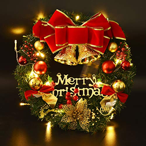 Coxeer Guirnaldas de Decoración de Navidad con Velas Bola Colgante de Guirnalda de Navidad para el Hogar