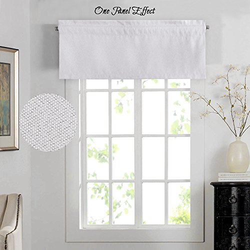 H.Versailtex Energy Efficient Rich Faux Linen Curtain Valance / Rod Pocket Window Valances Matches with Panels -52