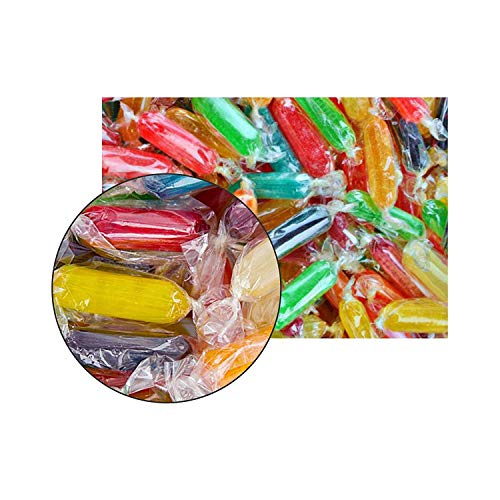 Bulk Hard Candy (Assorted Rods Hard Candy Mix Fruit Flavor Cherry, Apple, Butterscotch, Peppermint, Tangerine, Strawberry, Pineapple, Licorice and Lemon 2)