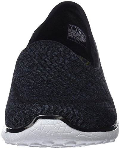 Mine Femme all Baskets Noir Microburst white Skechers black qxEzwCPq