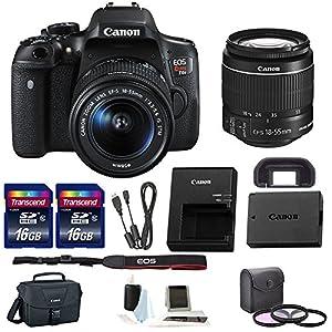Canon Rebel T6i DSLR Camera w/ 18-55mm lens + Promotional Holiday Bundle