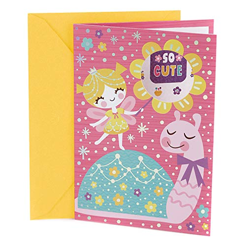 Hallmark Birthday Card for Kids (Fairy and Snail with Stickers) - Girl Birthday Card
