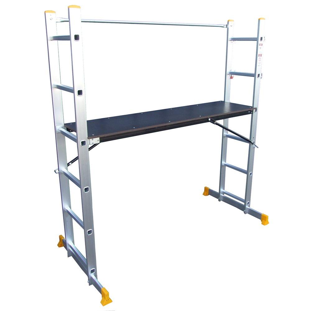 Abbey 5 Way Multi Purpose Platform And Scaffold Combination Ladder:  Amazon.co.uk: DIY U0026 Tools