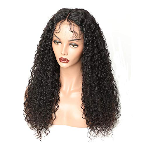Sheep Store Curly Lace Front Wig With Baby Hair Brazilian Lace Front Human Hair Wigs For Black Women Remy Hair Lace Wig 150% Density,Natural Color,16Inches,150%]()