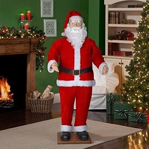 6' Life Size Animated Dancing Santa with Realistic Face by Gemmy (Image #3)