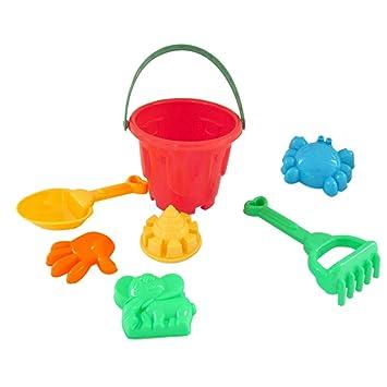 perfeclan 7/9 Piezas Juguete de Playa Molde de Arena Plástico Cosntrucción de Arcilla Juego al Aire Librr para Niños Niñas - 7 Piezas: Amazon.es: Juguetes y ...