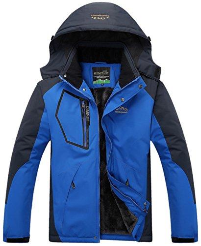 Impermeable Nieve Deporte Excursionismo Ropa Al Sawadikaa Esquí de Chubasqueros Libre Chaqueta Azul de Hombre de Lana Capa Aire Chaqueta 6wwHTx8qP