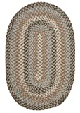 Boston Common Polypropylene Braided Rug, 2-Feet by 4-Feet, Driftwood Teal
