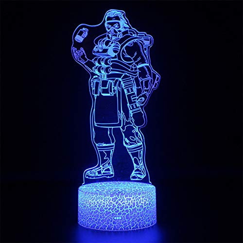 FFYYJJLEI Battle Royale Game Nightlight Apex Legends Projection Lamp Remote Control 3D Apex Led Night Kids Sleep Light Party Decoration