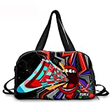 Mumeson Hip-hop Style Travel Duffel Bag Canvas Bag Weekend Bag Overnight for Men Women