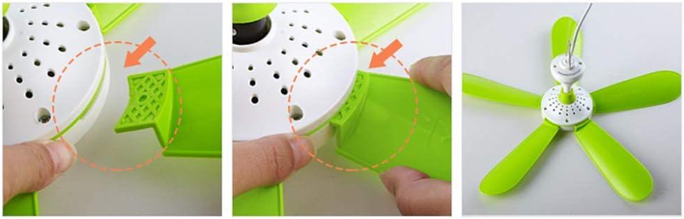 42cm WZP Piccolo Ventilatore a Soffitto Usb Regolabile Brezza Velocit/à Dormitorio Studente Zanzariera Letto Elettroventilatore Domestico Velocit/à Regolabile//verde