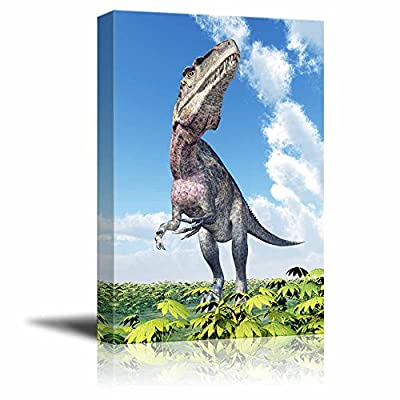 Magnificent Object of Art, Classic Artwork, Dinosaur Acrocanthosaurus for a Boys Bedroom Wall Decor