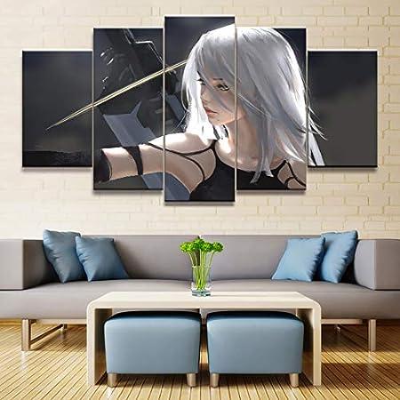 Zhuhuimin Decoración del hogar Modular HD Imprimir Imagen 5 Piezas Máquina expendedora Pintura Lienzo Animación Cartel Arte de la Pared para Sala de Estar -40x60cmx3 Piezas