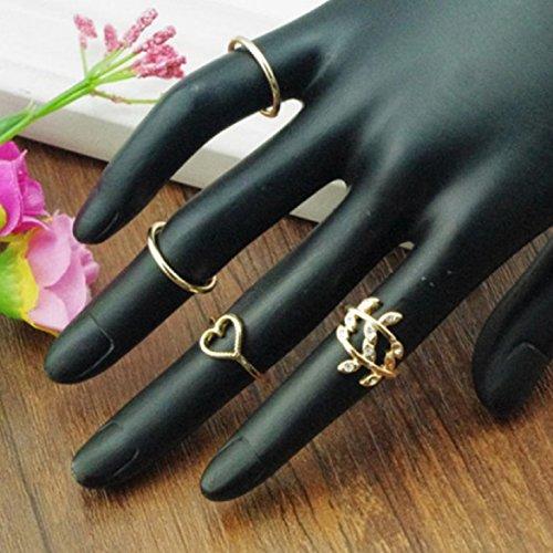 Susenstone(TM) Black Friday Fashion 4PC Gold Plated Leaf ...