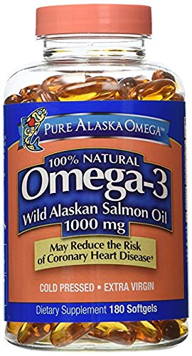 Pure Alaska Omega-3 Wild Alaskan Salmon Oil 1000mg 210 Count ()