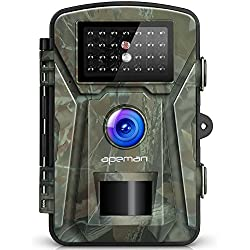 "【NEW VERSION】APEMAN Trail Camera 12MP 1080P 2.4"" LCD Game&Hunting Camera with 940nm Upgrading IR LEDs Night Vision up to 65ft/20m IP66 Spray Water Protected Design"