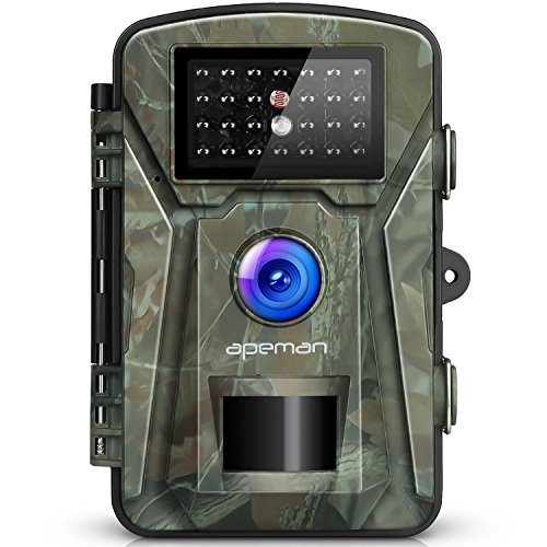 【NEW VERSION】APEMAN Trail Camera 12MP 1080P 2.4' LCD Game&Hunting Camera with 940nm Upgrading IR LEDs Night Vision up to 65ft/20m IP66 Spray Water Protected Design