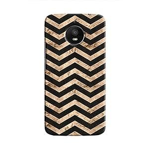 Cover It Up - Brown Black Tri Stripes Moto E4 Plus Hard case