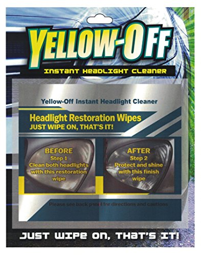 Yellow Off Headlight Cleaner 655315010284 1 Pack Yellow-Off Instant Headlight Cleaner Wipes (Best Headlight Restoration Kit On The Market)