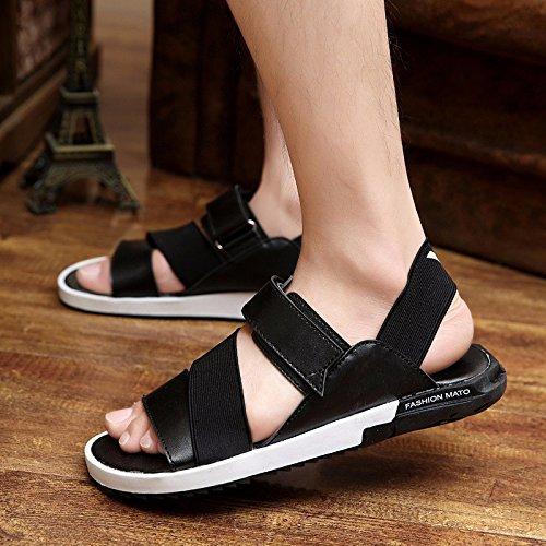 Il nuovo pattino dei sandali dei sandali delle molle degli uomini della molla calza le scarpe dei pattini di marea, il nero, UK = 9.5, l'EU = 44