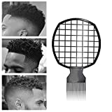 Magic Hair Coils Tool, Afro Pick Twist Hair Curl Sponge Brush, Twist Afro Natural Hair Comb - For Barber and Personal Use (Black)