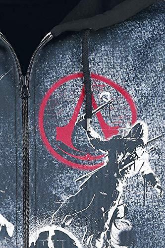 Multicolore Assassin's Live Con By Cerniera Creed Felpa The xzznq4U0w6