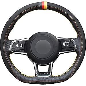 FANGPAN Cubierta del Volante de Cuero, para Volkswagen Golf 7 GTI ...