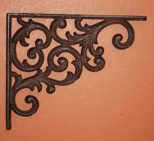 Southern Metal Set of 6 Victorian Shelf Brackets Solid Cast Iron Ornate Scroll Corbels, 9 1/4'' x 7 3/4'' Volume Priced, B-23 by Southern Metal (Image #6)