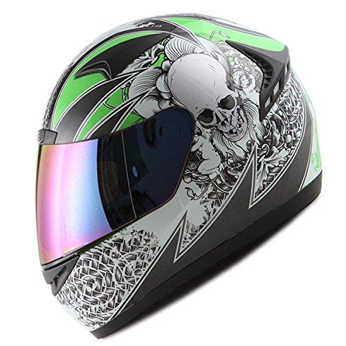 1STORM MOTORCYCLE BIKE FULL FACE HELMET BOOSTER SKULL ()