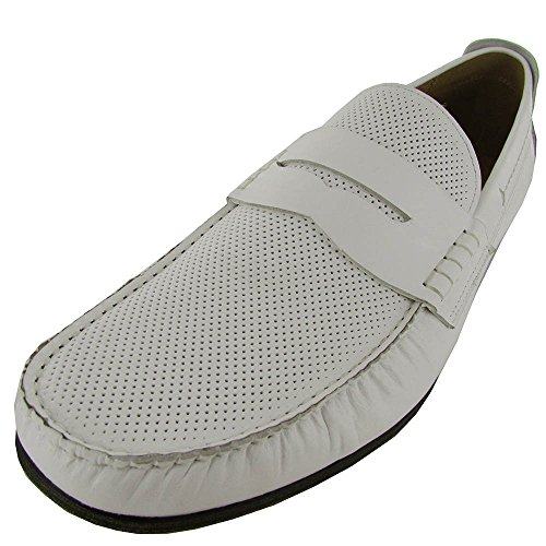 Steve Madden Mens Wonder1 Penny Loafer White