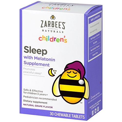 Zarbees Naturals Childrens Melatonin Supplement