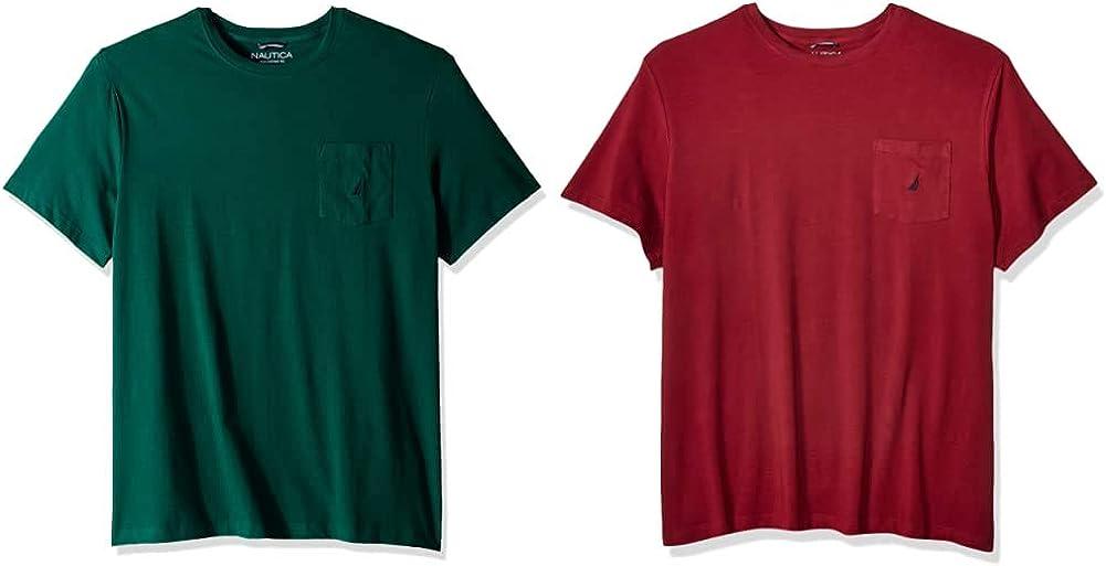 Nautica Rapid rise Men's Be super welcome Solid Crew Neck T-Shirt Sleeve Tidal Short Pocket