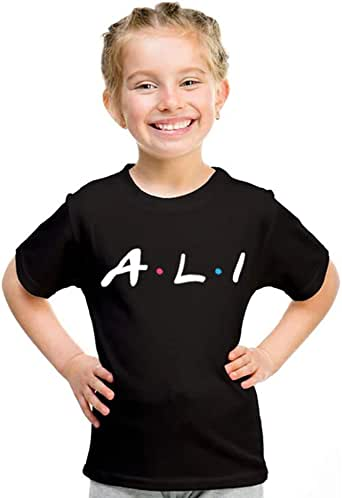kharbashat ali T-Shirt for Girls, Size 32 EU, Black