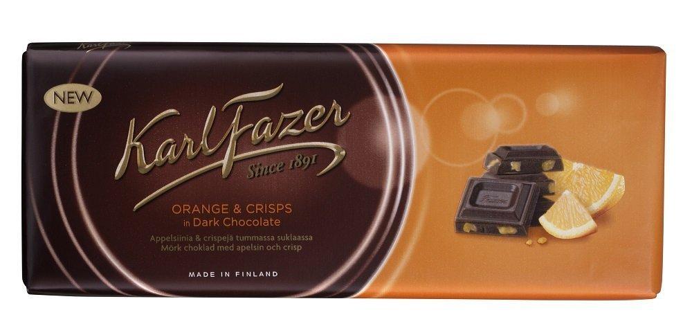 Translated 10 Bars x 200g of Indianapolis Mall Karl Orange Fazer Finnis - Original Crisps