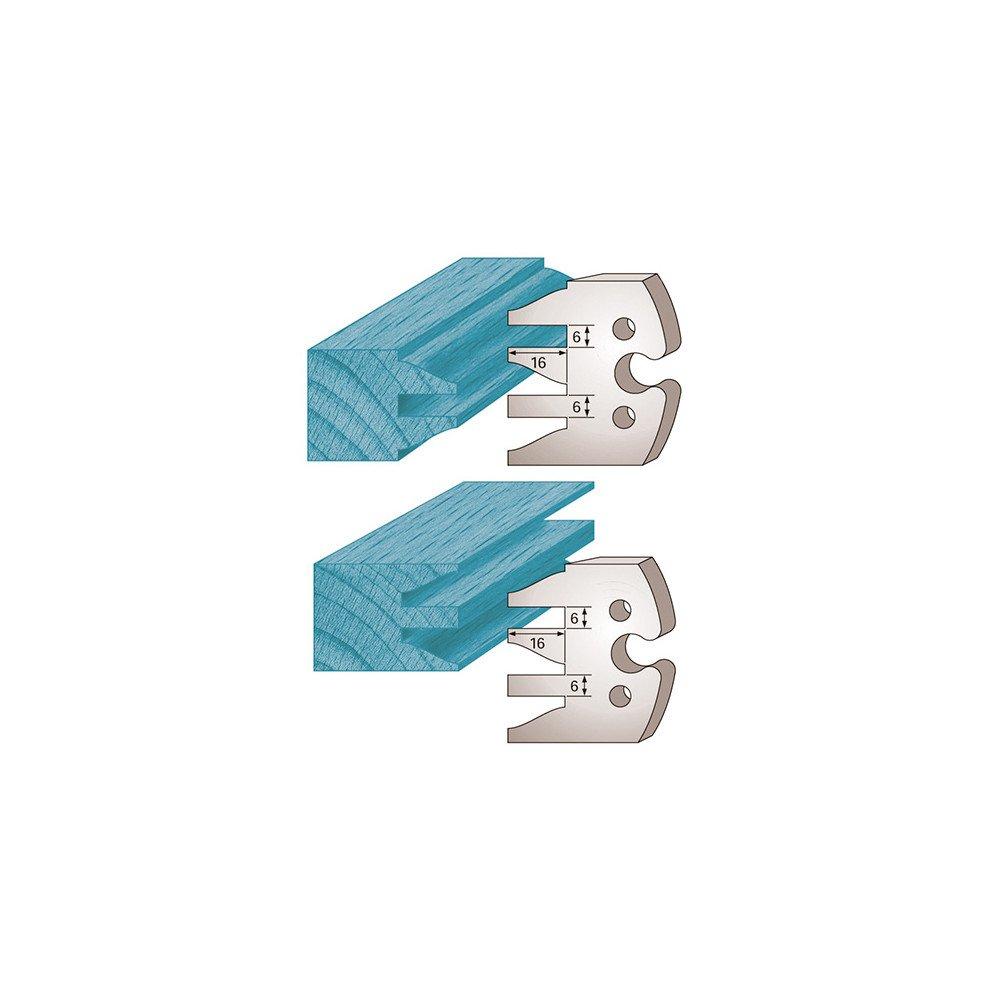 Diamwood Platinum - Jeu de 2 fers profilé s Ht. 50 x 5, 5 mm profil/contre-profil M232 pour porte-outils de toupie - Diamwood Platinum