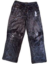 Men's Black Lounge Pants in Black Jeans style. S-2XL.