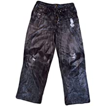 Joe Boxer Men's Black Lounge Pants in Black Jeans style. S-2XL.