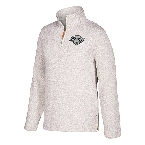 adidas NHL Los Angeles Kings Mens CCM 1/4 Zipccm 1/4 Zip, Grey Heathered, Small