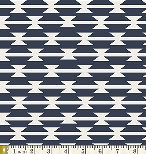 Tomahawk Stripe from the Arizona collection by April Rhodes for Art Gallery Fabric - ARZ-551 - Southwest Navy White - Arizona Collection