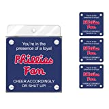 Tree-Free Greetings NC38097 Phillies Baseball Fan 4-Pack Artful Coaster Set