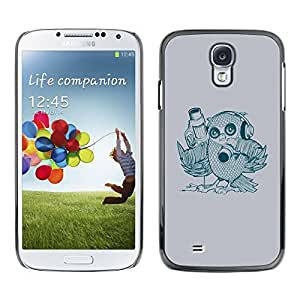 LECELL -- Funda protectora / Cubierta / Piel For Samsung Galaxy S4 I9500 -- Abstract Bird --
