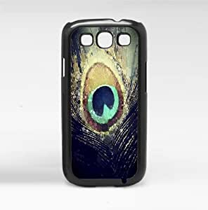 Colorful Peacock Feather Hard Snap on Phone Case (Galaxy s3 III)